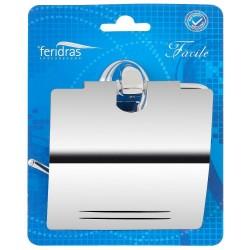 Feridras portarotolo porta carta igienica acciaio cromato antiruggine 091005-b